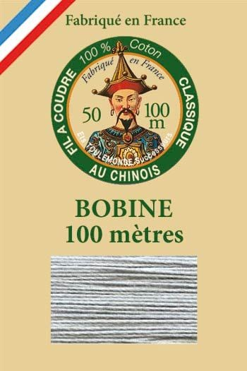 Fil Au Chinois cotton sewing thread - 100m spool 6110 - Mouse