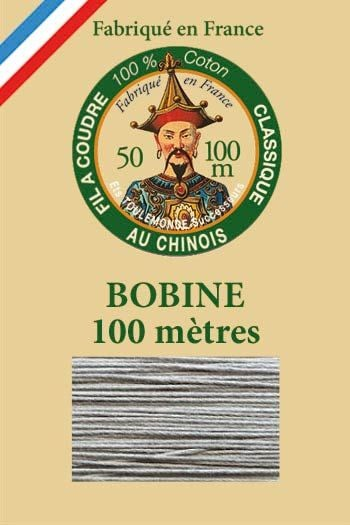 Fil Au Chinois cotton sewing thread - 100m spool 6125 - Steel