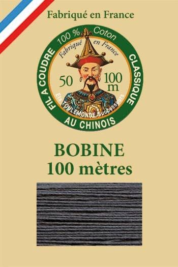 Fil Au Chinois cotton sewing thread - 100m spool 6155 - Anthracite