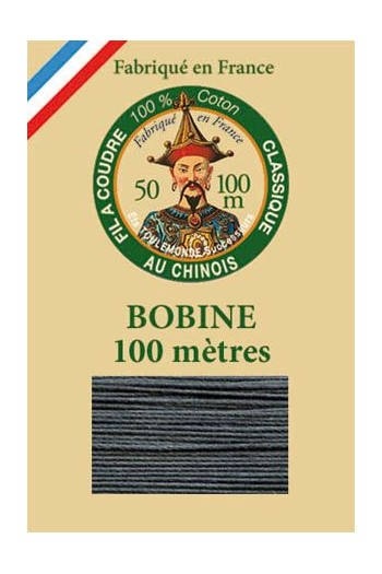 Fil Au Chinois cotton sewing thread - 100m spool 6172 - Slate