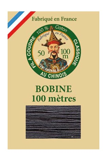 Fil Au Chinois cotton sewing thread - 100m spool 6147 - Cast iron
