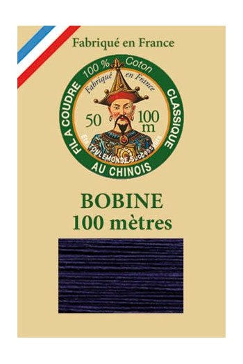 Fil Au Chinois cotton sewing thread - 100m spool 6764 - Navy blue