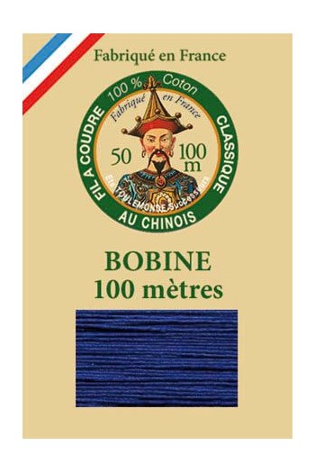 Fil Au Chinois cotton sewing thread - 100m spool 6747 - Sapphire