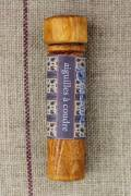 Hornbeam wooden needle case with sewing needles