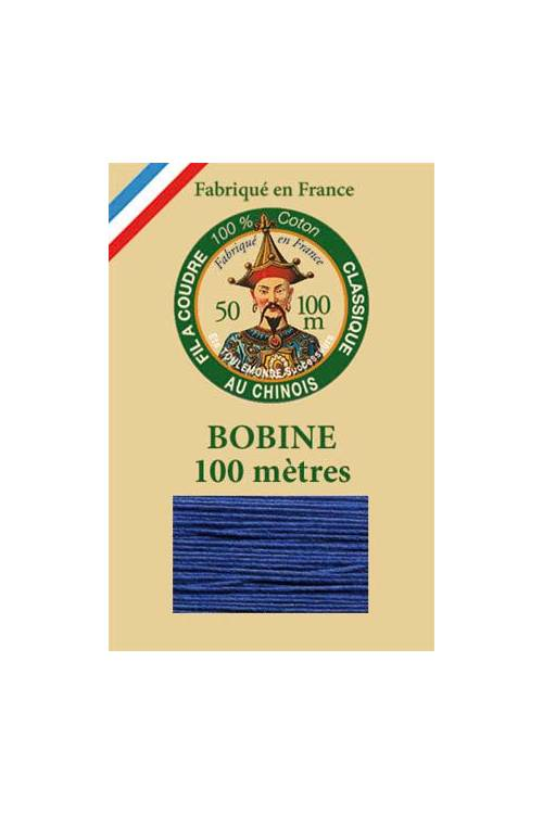 Fil Au Chinois cotton sewing thread - 100m spool 6790 - Royal Blue