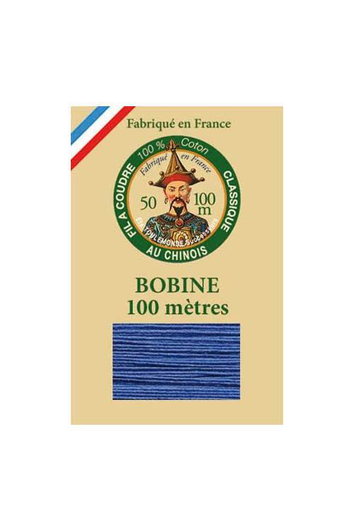 Fil Au Chinois cotton sewing thread - 100m spool 6733 - Nattier blue