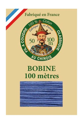 Fil Au Chinois cotton sewing thread - 100m spool 6731 - Cornflower