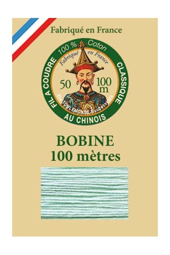 Fil Au Chinois cotton sewing thread - 100m spool 6802 - Jade green