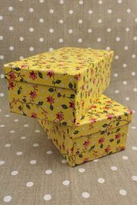 Special offer : two Jouy boxes - Breteuil motif