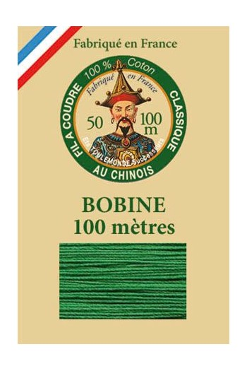 Fil Au Chinois cotton sewing thread - 100m spool 6867 - Green