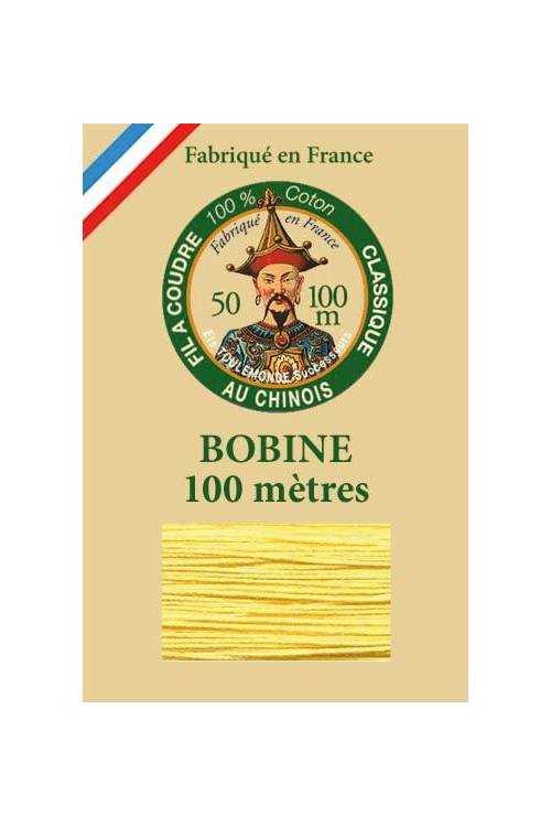 Fil Au Chinois cotton sewing thread - 100m spool 6335 - Orpiment