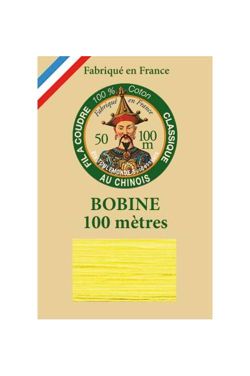 Fil Au Chinois cotton sewing thread - 100m spool 6327 - Canary