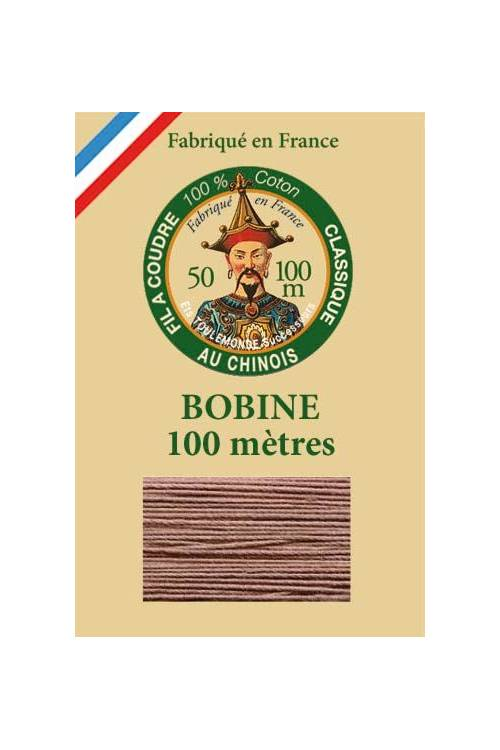 Fil Au Chinois cotton sewing thread - 100m spool 6260 - Buff