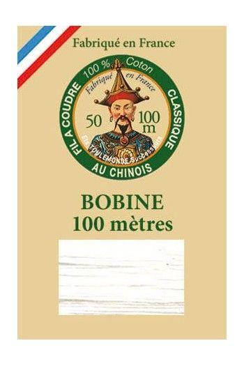 Mercerisierte Baumwolle 100 Meter Spule - 6100 – Weiß