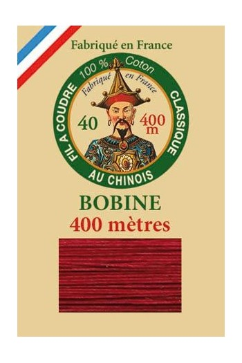Fil Au Chinois cotton sewing thread - 400m spool 6535 - Ibis