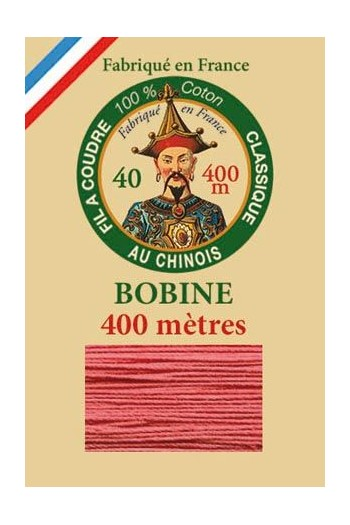 Fil Au Chinois cotton sewing thread - 400m spool 6570 - Peony