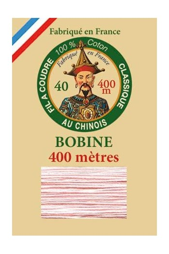 Fil Au Chinois cotton sewing thread - 400m spool 6586 - Powder