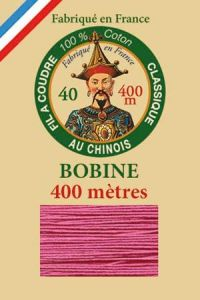 Fil Au Chinois cotton sewing thread - 400m spool 6573 - Anemone