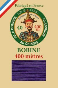 Fil Au Chinois cotton sewing thread - 400m spool 6631 - Violet