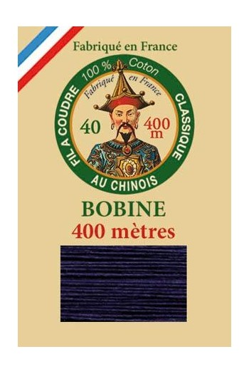 Fil Au Chinois cotton sewing thread - 400m spool 6764 - Navy blue