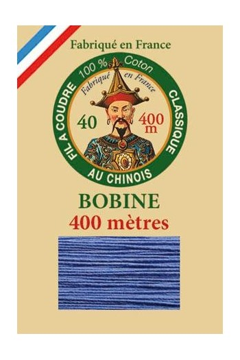 Fil Au Chinois cotton sewing thread - 400m spool 6731 - Cornflower