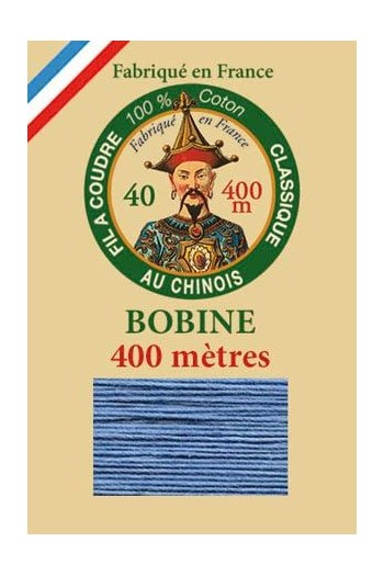 Fil Au Chinois cotton sewing thread - 400m spool 6774 - Blue
