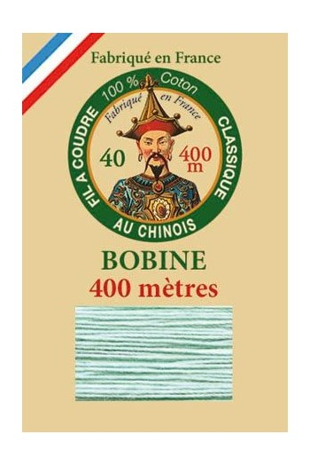 Fil Au Chinois cotton sewing thread - 400m spool 6802 - Jade green