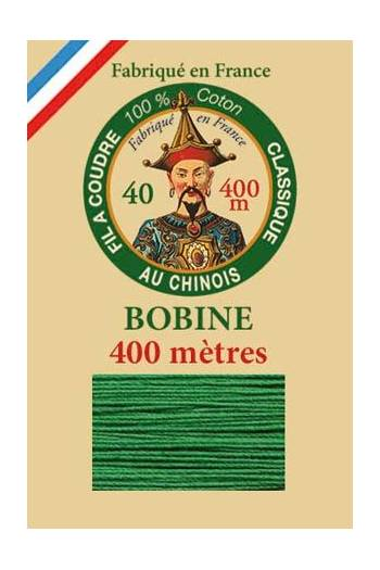 Fil Au Chinois cotton sewing thread - 400m spool 6867 - Green