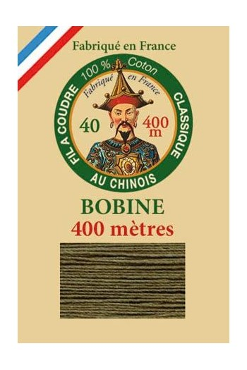 Fil Au Chinois cotton sewing thread - 400m spool 6844 - Dark olive
