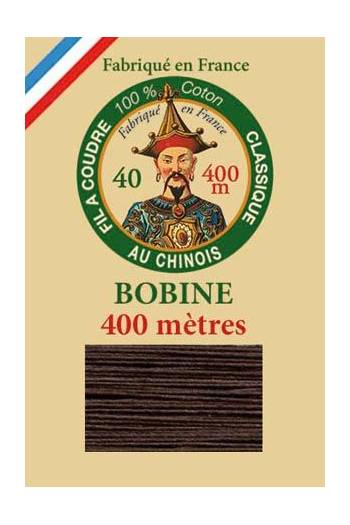 Fil Au Chinois cotton sewing thread - 400m spool 6105 - Chocolate