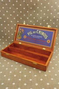Wooden storage box  Fil Au Chinois sewing threads