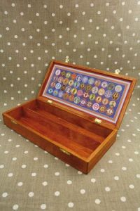 Wooden storage box  for threads - Cocoon label