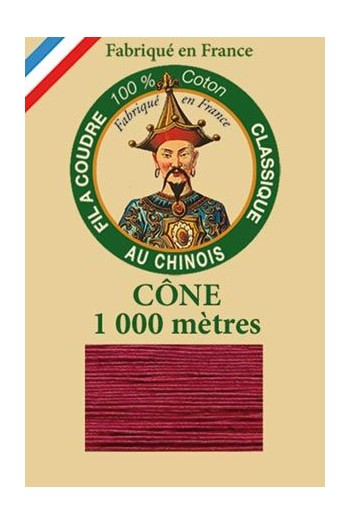 Fil Au Chinois cotton sewing thread 1000m cone 6542 - Poppy