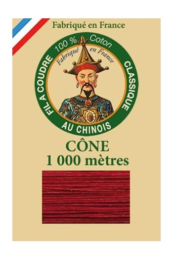 Fil Au Chinois cotton sewing thread 1000m cone 6535 - Ibis
