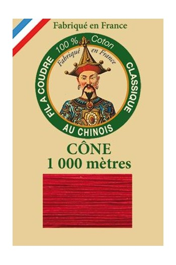 Fil Au Chinois cotton sewing thread 1000m cone 6511 - Cherry