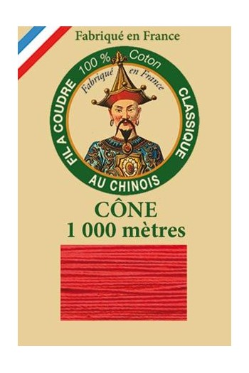 Fil Au Chinois cotton sewing thread 1000m cone 6532 - Red