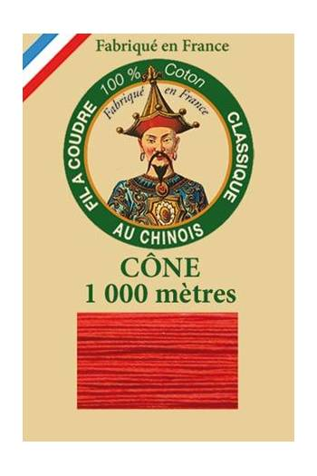 Fil Au Chinois cotton sewing thread 1000m cone 6539 - Strawberry