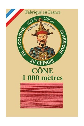 Fil Au Chinois cotton sewing thread 1000m cone 6570 - Peony