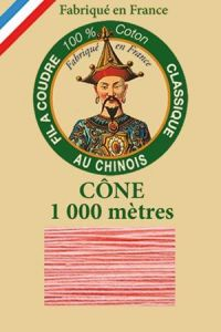 Fil Au Chinois cotton sewing thread 1000m cone 6562 - Coral