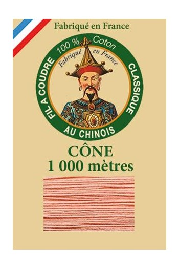 Fil Au Chinois cotton sewing thread 1000m cone 6593 - Pink
