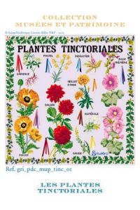 Cross stitch pattern chart: Tinctorial Plants