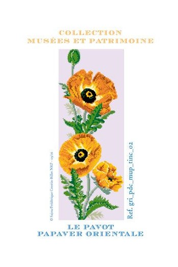 Garden poppy to embroider in cross stitch - Museums and Heritage Collection