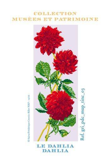 Dahlia to embroider in cross stitch - Museums and Heritage Collection