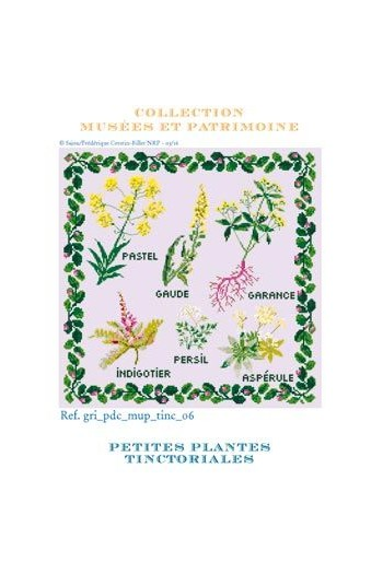 Small tinctorial plants to embroider in counted cross stitch - Museums and Heritage Collection
