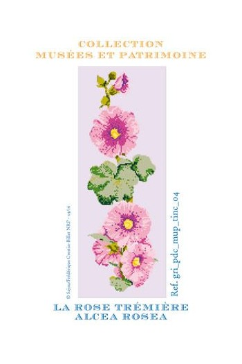 Hollyhock to embroider in cross stitch - Museums and Heritage Collection