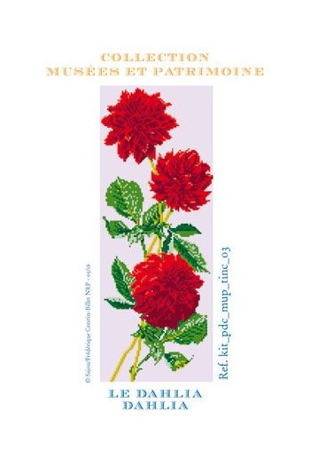 Dahlia cross-stitch kit - Museums and Heritage Collection