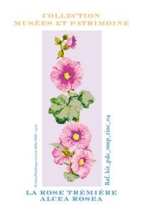 Hollyhock cross stitch kit - Museums and Heritage Collection