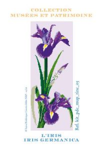 Iris cross-stitch kit - Museums and Heritage Collection