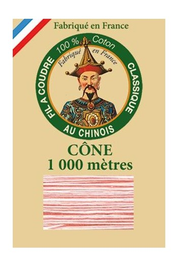 Fil Au Chinois cotton sewing thread 1000m cone 6585 - Blush