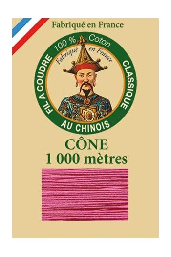 Fil Au Chinois cotton sewing thread 1000m cone 6573 - Anemone